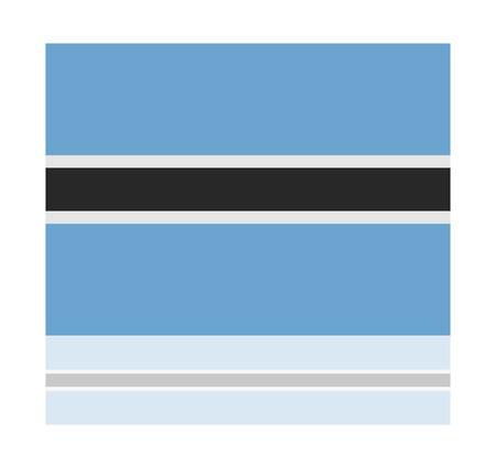 botswana: reflection flag botswana Illustration