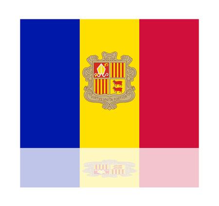 reflection: reflection flag andorra