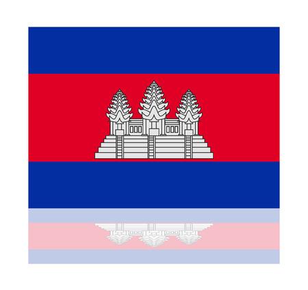 cambodia: reflection flag cambodia