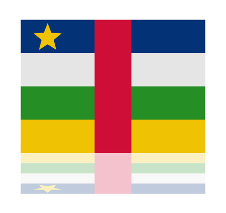 central: reflectie vlag centrale african