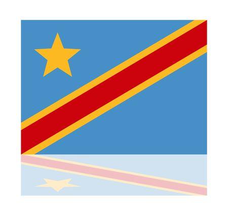 congo: reflection flag congo