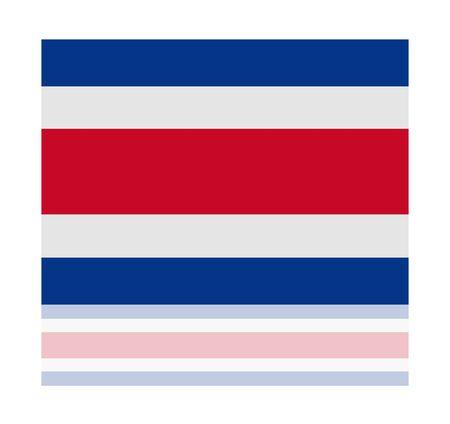 costa: reflection flag costa rica