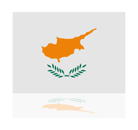 cyprus: reflection flag cyprus Illustration