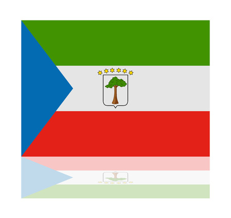 guinea equatoriale: Bandiera riflessione Guinea Equatoriale