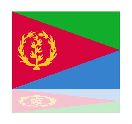 eritrea: reflection flag eritrea