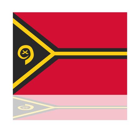 vanuatu: reflection flag vanuatu