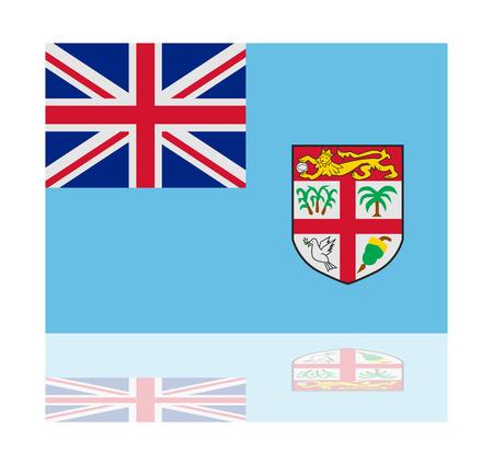 fiji: reflectie vlag van Fiji