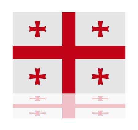 georgia: reflection flag georgia Illustration