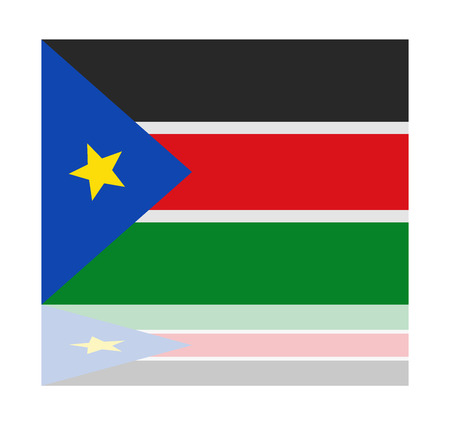 sudan: reflection flag south sudan