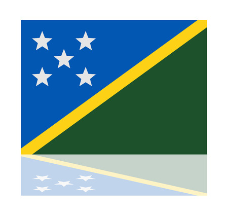 solomon: reflection flag solomon islands