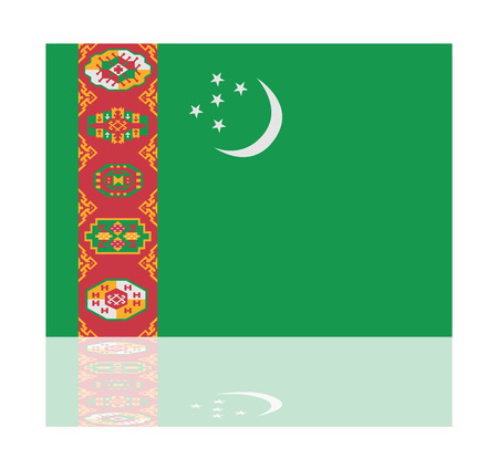 turkmenistan: reflection flag turkmenistan
