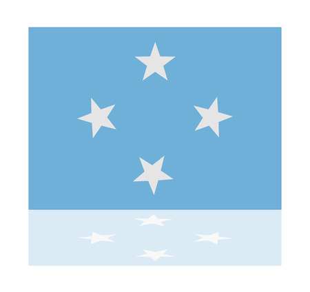 micronesia: reflection flag micronesia