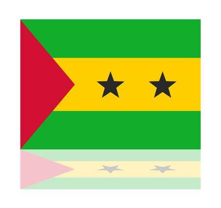 tomo: Bandiera riflessione Sao Tome Vettoriali