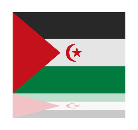reflection: reflection flag sahrawi Illustration