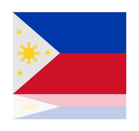 philippines: reflection flag philippines