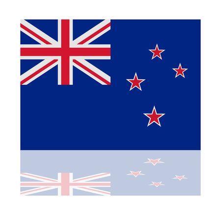 zealand: reflection flag new zealand