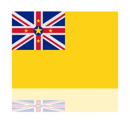 niue: reflection flag niue Illustration