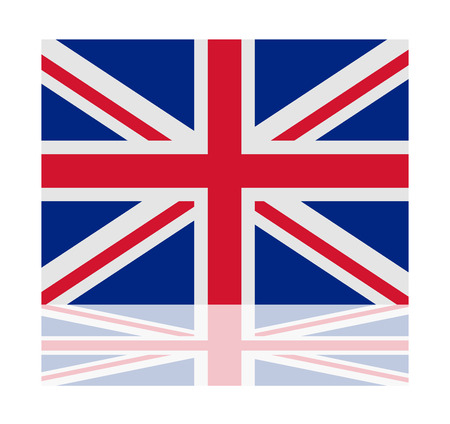 of the united kingdom: reflection flag united kingdom