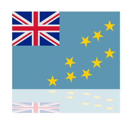tuvalu: reflection flag tuvalu