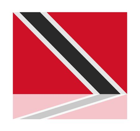 trinidad: reflection flag trinidad Illustration