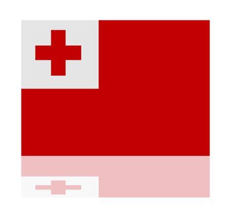 tonga: reflection flag tonga