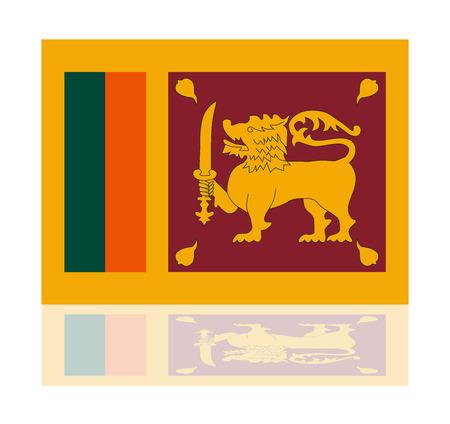sri: reflection flag sri lanka