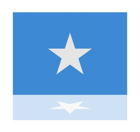 somalia: reflection flag somalia