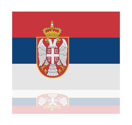 serbien: Reflexion Flagge Serbien