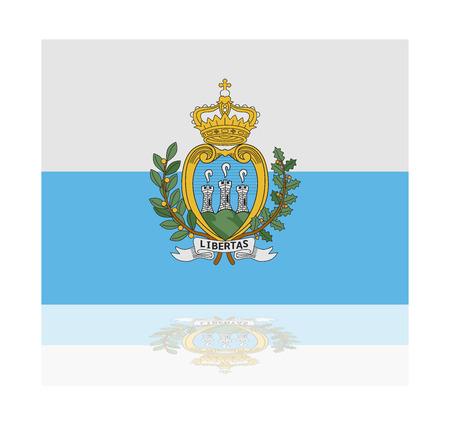 sammarinese: Bandiera riflessione San Marino