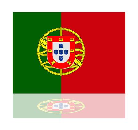 bandera de portugal: bandera reflexi�n portugal