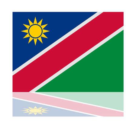 namibia: reflection flag namibia Illustration
