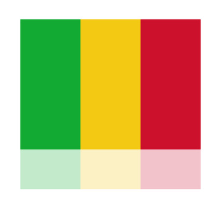 mali: reflection flag mali