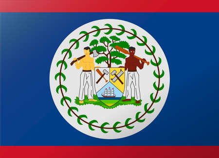 belize: reflection flag belize