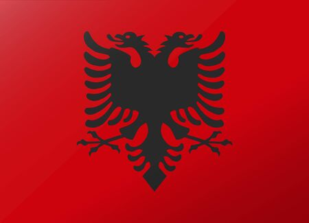 albania: reflection flag albania Illustration