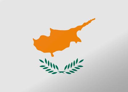 cyprus: reflection flag cyprus Illustration