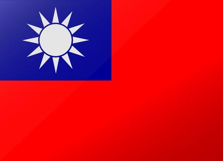 réflexion drapeau taiwan