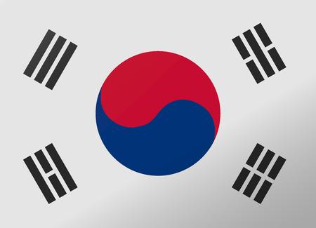 south korea: reflection flag south korea