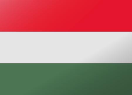 hungary: reflection flag hungary Illustration
