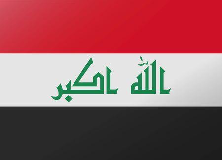 iraq: reflection flag iraq Illustration