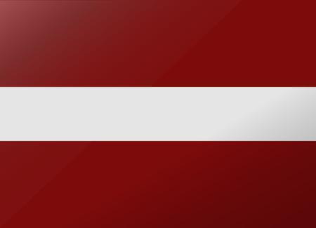 latvia: reflection flag latvia Illustration