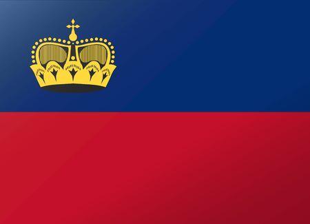 liechtenstein: reflection flag liechtenstein