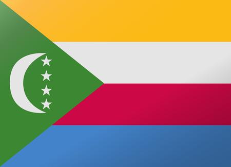 comoros: reflection flag comoros