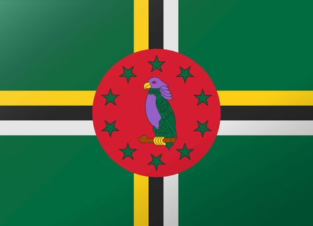 dominica: reflection flag dominica
