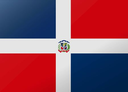 reflection: reflection flag dominican rep Illustration