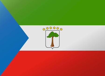 equatorial: reflection flag equatorial guinea