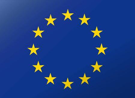evropský: odraz vlajka Evropské unie
