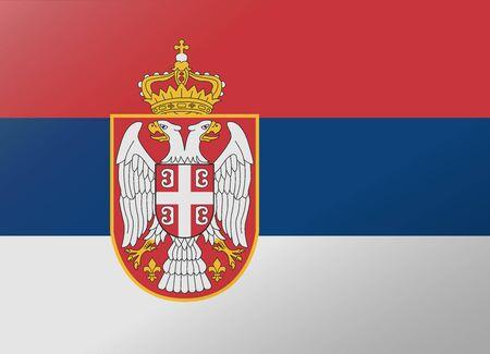 serbia: reflection flag serbia