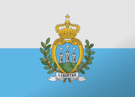san marino: reflection flag san marino