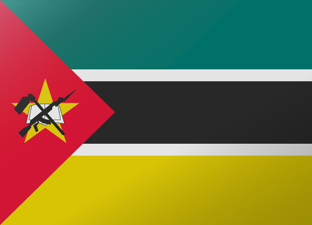 mozambique: reflection flag mozambique