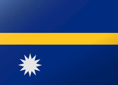 nauru: reflection flag nauru